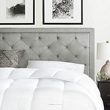 Brookside Upholstered Headboard with Diamond Tufting - Queen - Stone