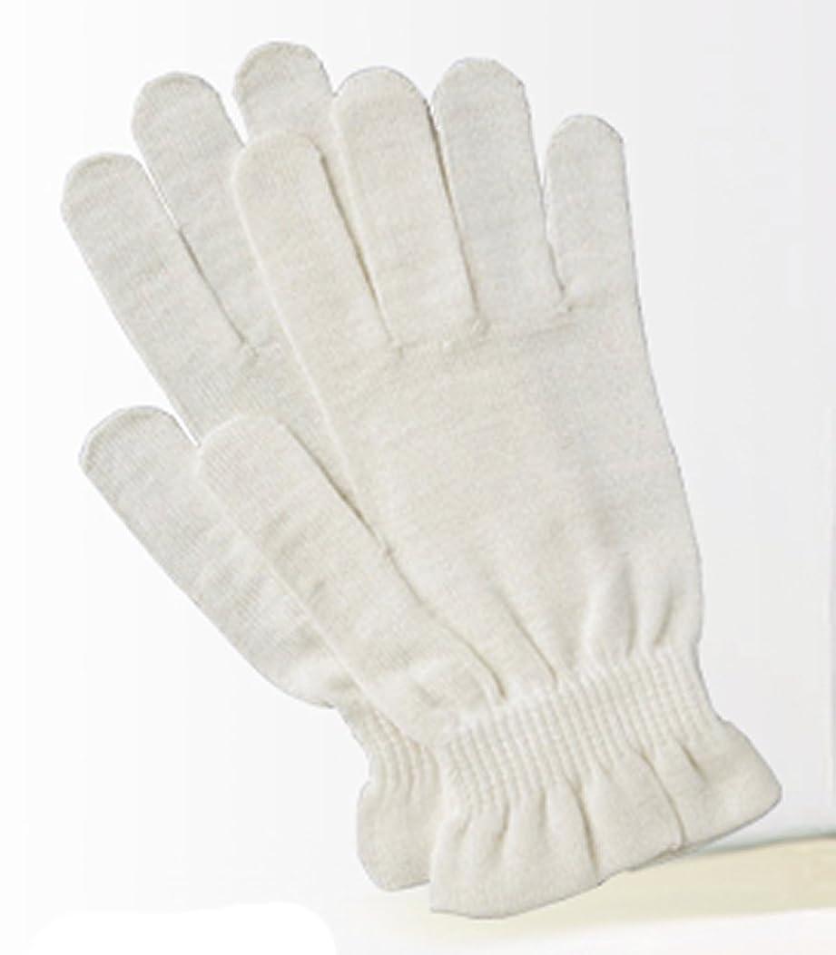 夜間キャンパスブリッジ京都西陣の絹糸屋さんのシルク手袋