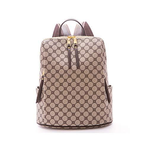FOXER Große Kapazität Damen PVC Handtasche Echtleder Tasche Crossbody Tasche Umhängetasche