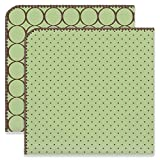 SwaddleDesigns Ultimate Winter Swaddles, Set of 2, X-Large Receiving Blankets, Made in USA Premium Cotton Flannel, Mod Circles and Polka Dots, Lime (Mom's Choice Award Winner)