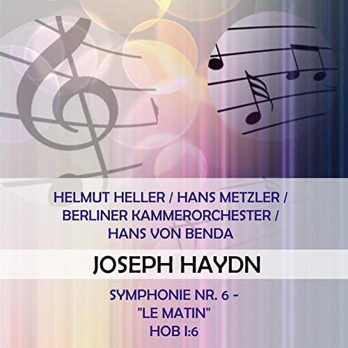 Helmut Seller, Hans  Metzler, Berliner Kammerorchester & Radio-Symphonie-Orchester Berlin