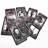 LHJY Tarot Cards Dark XIII Juego De Mesa De Tarot En Inglés para Uso Personal Tarot Deck Women 78 Cards (2 Set)