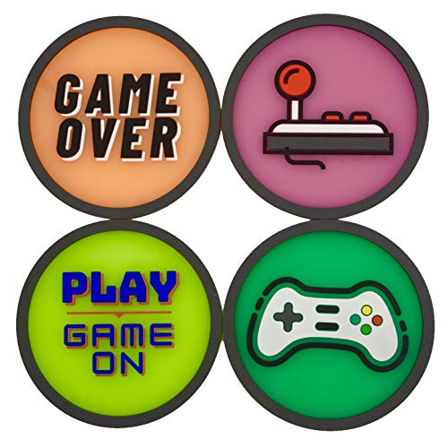 Play Avery - 3D Glow in The Dark Gaming Drinks Coasters, Set of 4 Coasters | Cool Gaming Setup, Perf