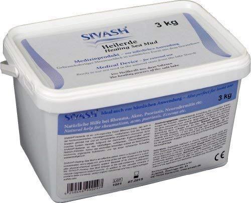 SIVASH-Heilerde Medizinprodukt für äußerliche Anwendung, gebrauchsfertig, 3kg, Natürliche Hilfe bei Rheuma, Akne, Psoriasis und Neurodermitis etc.