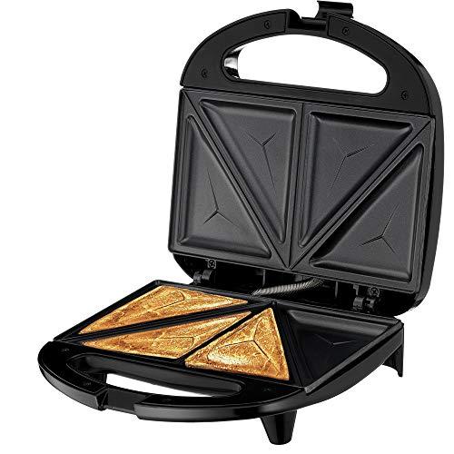 Lumme Sandwich Maker, Sandwich Toaster, Panini Press, Quesadilla Maker, Grilled Cheese, French Toast Press, Pizza Pockets Press, Indicator light, Omelet, White (White)