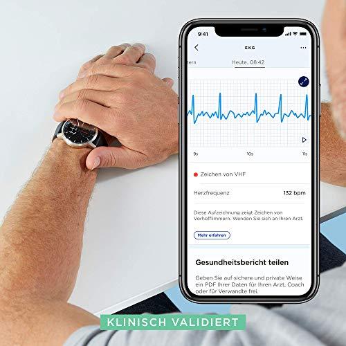 Withings Unisex-Adult Scanwatch 42mm White Hybrid Smartwatch mit EKG, Herzfrequenzsensor und Oximeter, weiß - 3