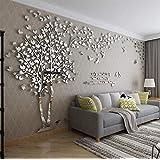 Hsunny ウォールステッカー 3D立体創造的な愛の木 ステッカー 女の子の部屋の壁のステッカー テレビの背景 壁紙 壁イラスト ウォールデコレーション ウォールペーパー 壁紙シール リビングルーム 立体 壁装飾 居間 寝室 - 多色 - 複数のサイズ