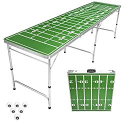 Folding Prep Table with Beer Pong Game Built-In