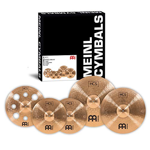 Meinl Cymbals HCS Bronze Expanded Becken Set Box Pack mit 14 Zoll Hihats, 16 Zoll Trash Crash, 18 Zoll Crash und 20 Zoll Ride Becken für Schlagzeug – B8 Bronze, traditionelles Finish (HCSB14161820)
