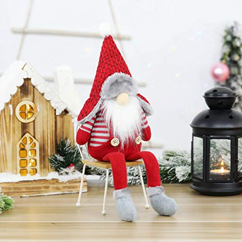 Ansenesna Wichtel Figuren Stehend Weihnachts Stoff Zwerge Weihnachten Schmuck Deko Niedlich Weihnachtspuppe