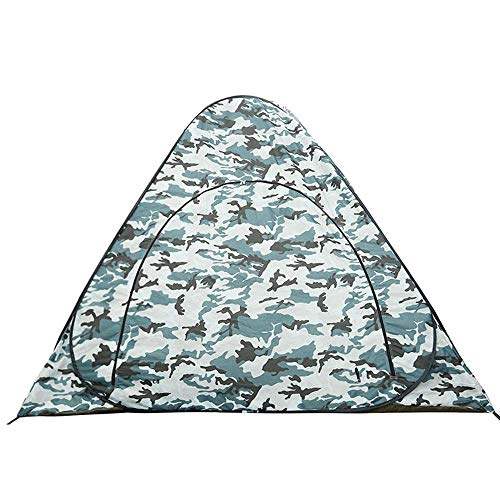 1yess Tienda 2 Portátil Pop-Hielo Pesca de Hielo Tienda Impermeable Hielo Pesca de Hielo Tienda para El Senderismo Al Aireor (Color: Gris, Tamaño: 200x200x160cm)