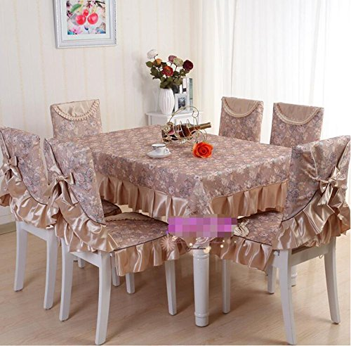 Set de table couverture de chaise en tissu, table costume en tissu, Continental,130*130CM