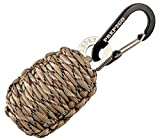 Paracord Survival Grenade (20pc)--Moms Feel Safe! Your Teen Can Get Food Fire Shelter If Lost--Cool Military Grade Gadget Gifts for Camping Hiking Hunting Urban Wilderness Preppers Eagle Boy Scout
