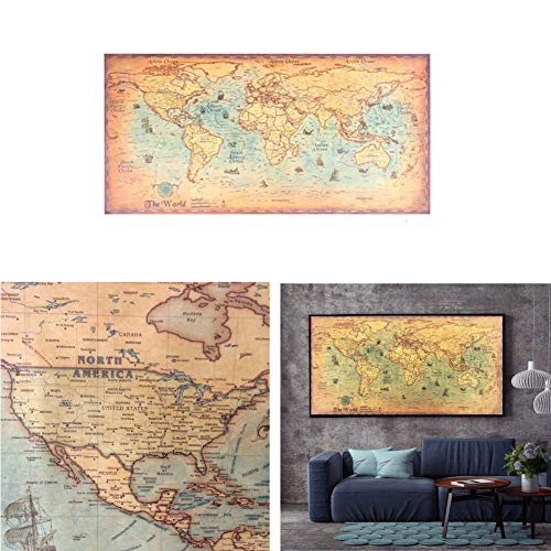 Polly Online Mapa Mundial Papel Kraft Pintura Papel