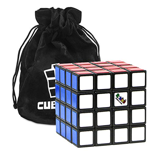 Rubik's Cube 4x4 Zauberwürfel – Das Original 4x4x4 Rubikwürfel mit Aufbewahrungsbeutel