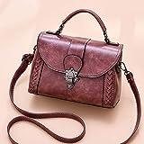 Bolso de Cuero PU, Moda Portátil Pequeño Bolsa Plaza Casual One-Shoulder Messenger Bag Women Clutch Wallet para el Trabajo, Compras, Viajes (Color : Pink)
