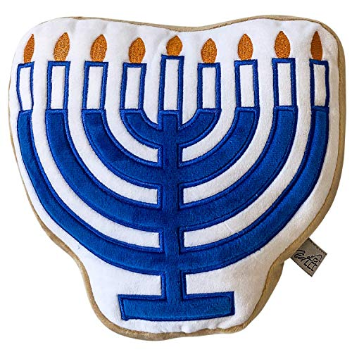 Midlee Hanukkah Menorah Sugar Cookie Dog Toy (Large)