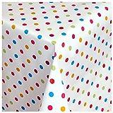 MODERNO Wachstischdecke Wachstuch Tischdecke Gartentischdecke abwaschbar eckig 100x140 cm kunterbunte Punkte
