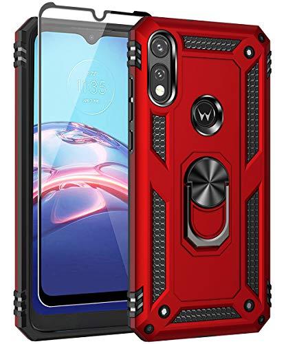 SunRemex Moto E (2020) Case with Tempered Glass Screen Protector. Moto E 2020 Case Kickstand [ Military Grade ] 15ft. Drop Tested Protective Cover for...