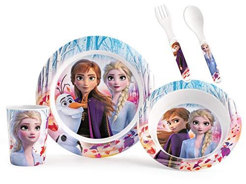 Lulabi Disney La Reine des Neiges Set 5 pièces pour enfant, mélamine