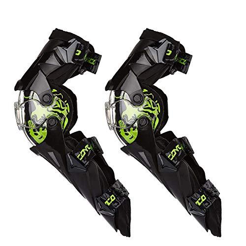 HCCX Outdoor-Motorrad-Knieschoner und Leggings – stoßfest – Fallenlassen – verstellbare atmungsaktive Komfort-Schutzausrüstung – geeignet für Männer und Frauen im Freien – Extremsportarten, grün