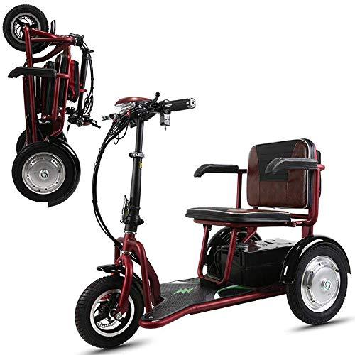 LLPDD Draagbare opvouwbare elektrische auto-driewieler Old Man/volwassenen gehandicapten/outdoor vrije tijd mobiele step voor volwassenen en Old Man