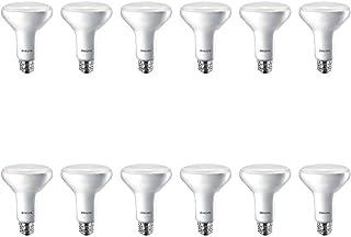Philips LED 474312 BR30 Dimmable 650-Lumen, 2700-Kelvin, 11 (65-Watt Equivalent) Flood Light Bulb with E26 Medium Base, Soft White, 12-Pack, 12 Pack