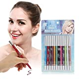 Eyeliner Set, 12 colores a prueba de agua de larga duración Eye Shadow Eyeliner Lipliner Pencil Cosmetic Pen Makeup Set