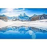 Accesorios de Fondo de fotografía de Vinilo, Cortina de Estudio de Fondo de fotografía de Paisaje de Invierno A13 10x10ft / 3x3m
