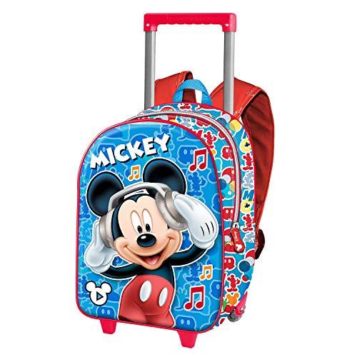 Karactermania Mickey Mouse Music - Mochila 3D con Ruedas (Pequeña), Multicolor