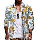 Camisa Hawaiana Casual para Hombre Manga Corta Básico Polos