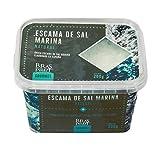 Sal marina ahumada natural en escamas especiada gourmet para cocina de 200 Gr (Tarro de 200 Gramos.)