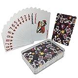 LeerKing Juego de Naipes Impermeable Tamaño estándar de la baraja Póker de...