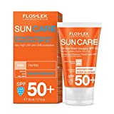 FLOSLEK Ölfrei Getönte Sonne Gesichts-Creme SPF 50+ | 50 ml | Reduzierung Sichtbarkeit von Hautunreinheiten | Haut ohne Verfärbungen | Für Menschen jeden Alters | Für Gemischte und...