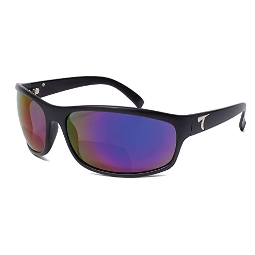 d48b2be4573 Typhoon Men s Harbor Ii Reader +2.5 Polarized Square Sunglasses Matte Black  72.0 mm