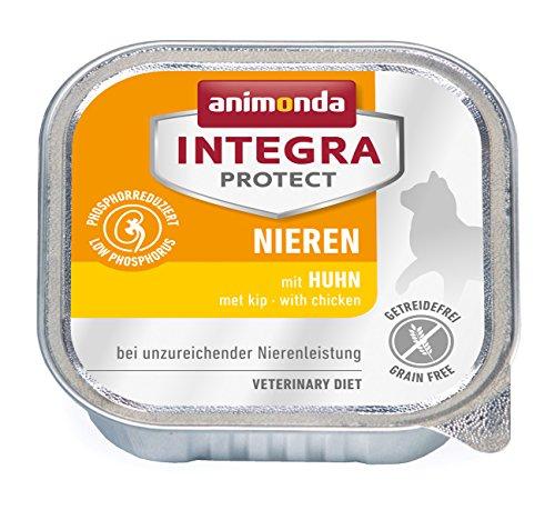 animonda Integra Protect Nieren Katzen, Nassfutter bei Niereninsuffizienz, mit Huhn, 16 x 100 g
