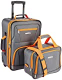 Rockland Fashion Softside Upright Luggage Set,...