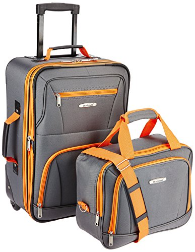 Rockland Fashion Softside Upright Luggage Set, Charcoal, 2-Piece (14/19)