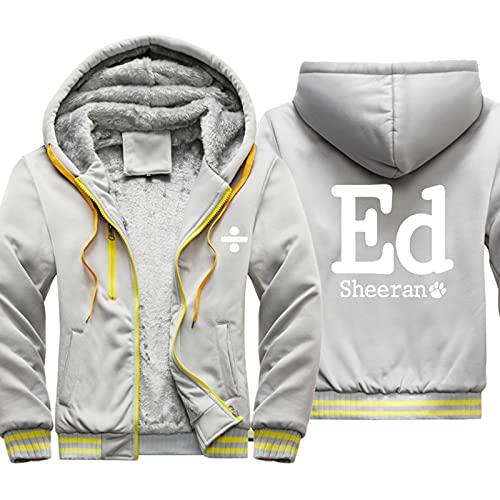 HOBEKOK Sudadera con capucha y cremallera completa para hombre, de Ed Sheeran, de invierno, de manga larga,...