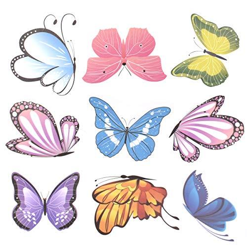 Liwein 80 Pezzi 3D Farfalla Adesivi Murali,Creativo Fai Da Te Arte Adesivo per Domestica Bambini da Letto Camera Cucina Frigo Feste Decorazioni
