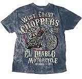 WEST COAST CHOPPERS Camiseta EL Diablo Vintage Blue azul XXL