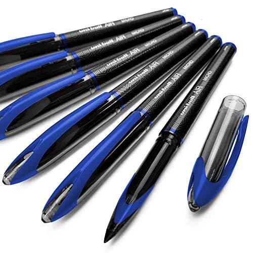Uni-Ball Air Micro, penne a sfera da 0,5 mm, confezione da 12, colore: blu, UBA-188-M