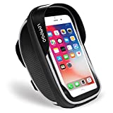 <span class='highlight'><span class='highlight'>LEMEGO</span></span> Waterproof Bike Phone Mount Holder Pouch Bag, Universal Bicycle Rear Handlebar Pouch with Water Resistant Frame Transparent Touchable Pouch Case For 6 Inchs Smartphone