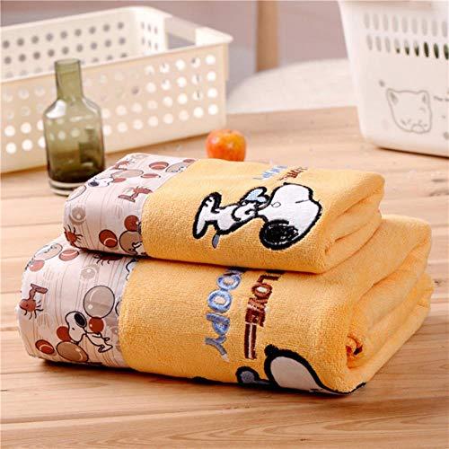 KOLPH - Juego de remolques de baño (2 piezas, Snoopy suave, absorbente, de dibujos animados para adultos, niños y adultos, remolques de playa, color naranja, Estados Unidos