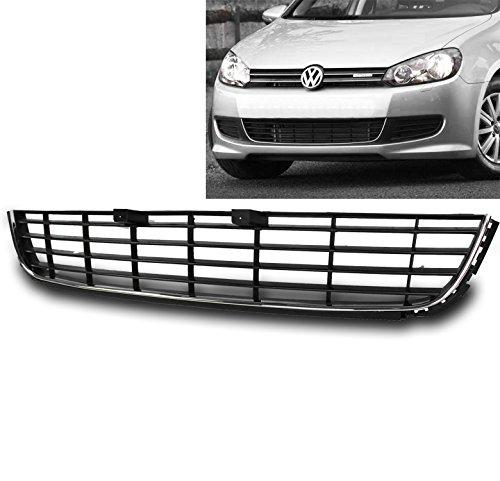 ZMAUTOPARTS Front Bumper Lower Grille Insert ABS Black For 2010-2013 VW Golf Hatchback / 2010-2014 Jetta Mk6 Sportwagen