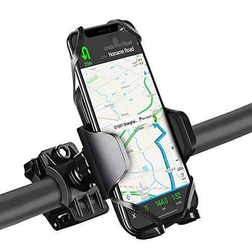 WERNG Fiets Mobiele Telefoon Houder, 360° Rotatie Verstelbare Fiets Mobiele Telefoon Houder voor 4-5.7 Inch Fiets GPS Apparatuur