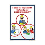 buysafetyposters.com - Follow Safety Happy Family Poster In English PVC Flex (2 ft X 3 ft, 24 inch X...