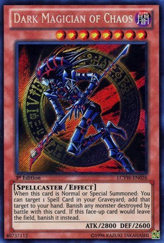 Yu-Gi-Oh  - Dark Magician of Chaos (LCYW-EN026) - Legendary Collection 3  Yugi's World - 1st Edition - Secret Rare by Yu-Gi-Oh