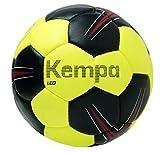Kempa Leo Ballon de handball Noir/Jaune Citron/Rouge Taille 0
