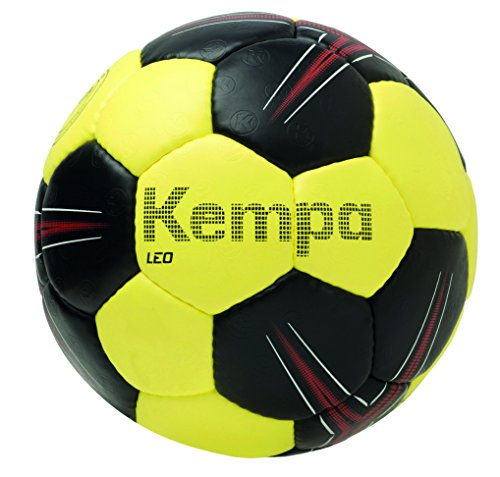 Kempa Kinder Leo Bälle, schwarz/limonengelb/Rot, 1.0